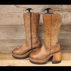 90's Vintage London Underground Platform boots